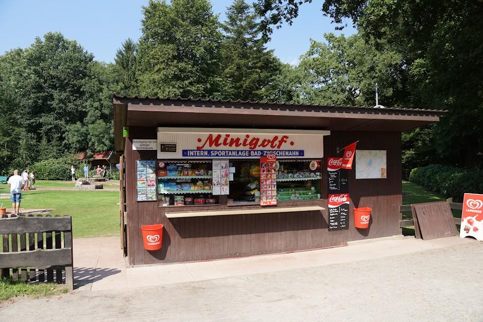 Hütte beim Minigolfplatz